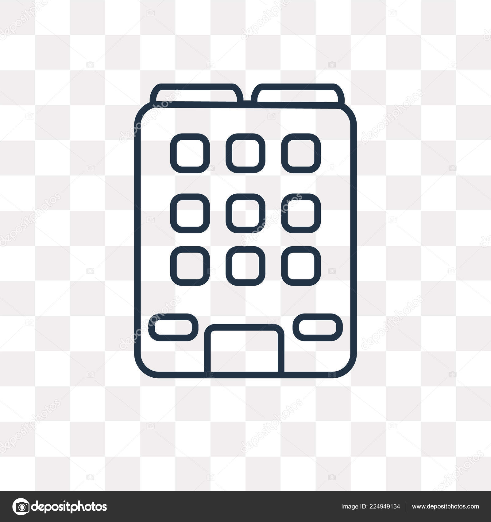 Company Vector Outline Icon Isolated Transparent Background High Quality Linear Stock Vector C Mmvector 224949134