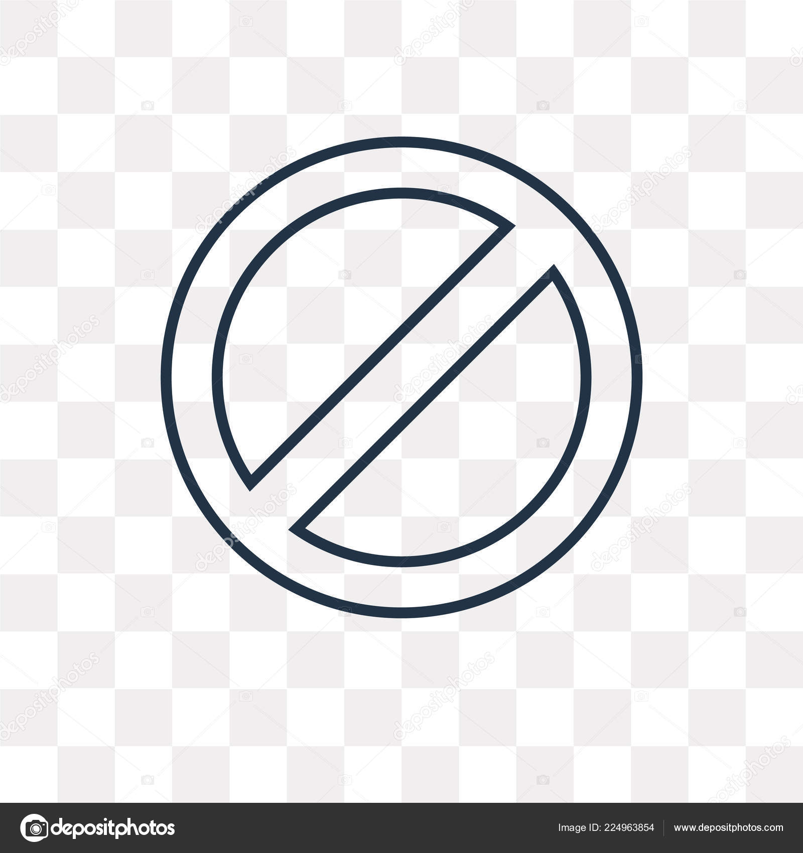 Prohibition Vector Outline Icon Isolated Transparent
