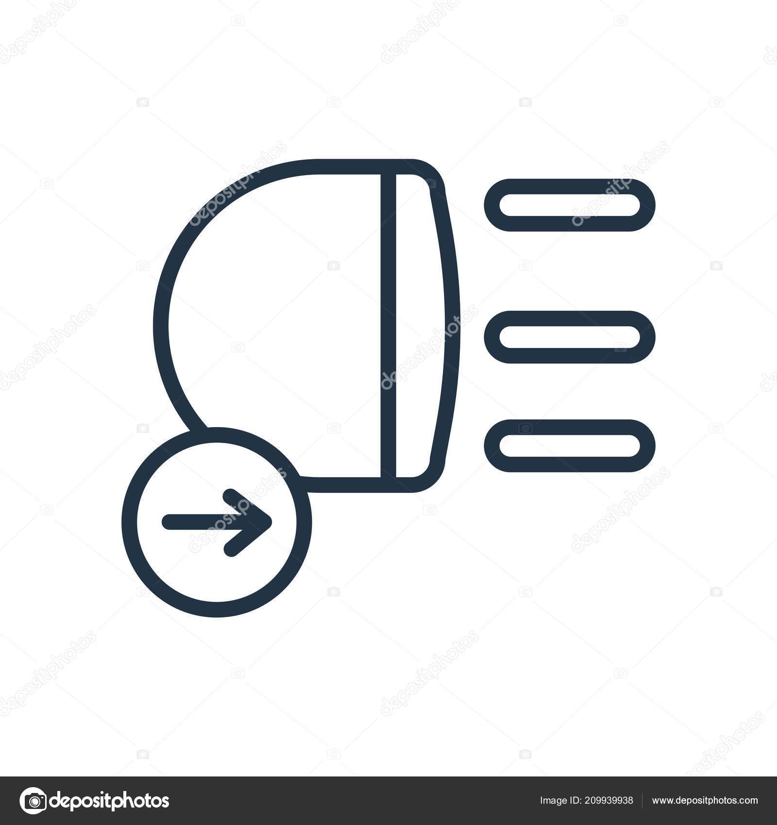 Auto Lichter Symbol Vektor Isoliert Auf Weissem Hintergrund Leuchtet