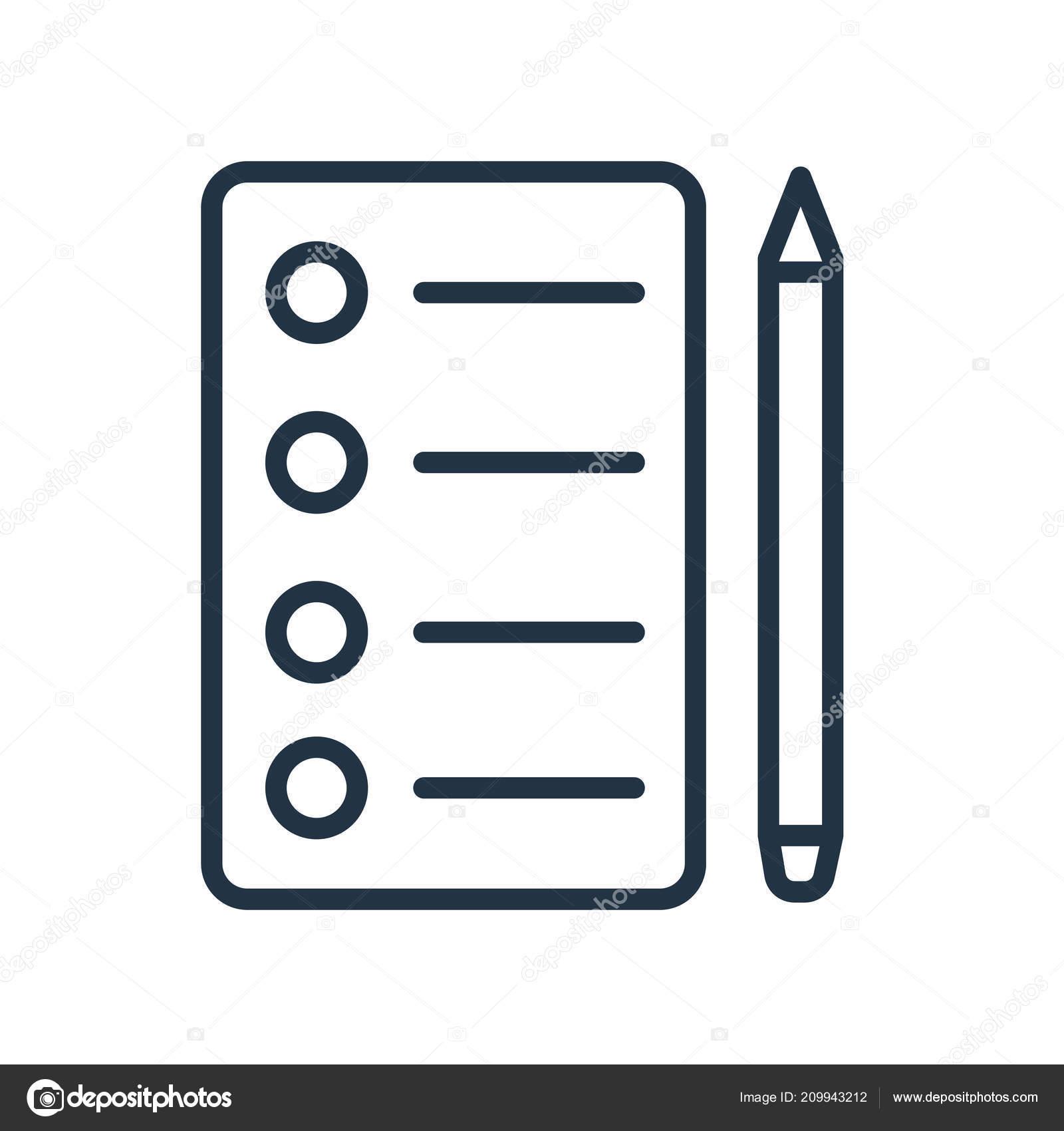 checklist icon vector isolated white background checklist