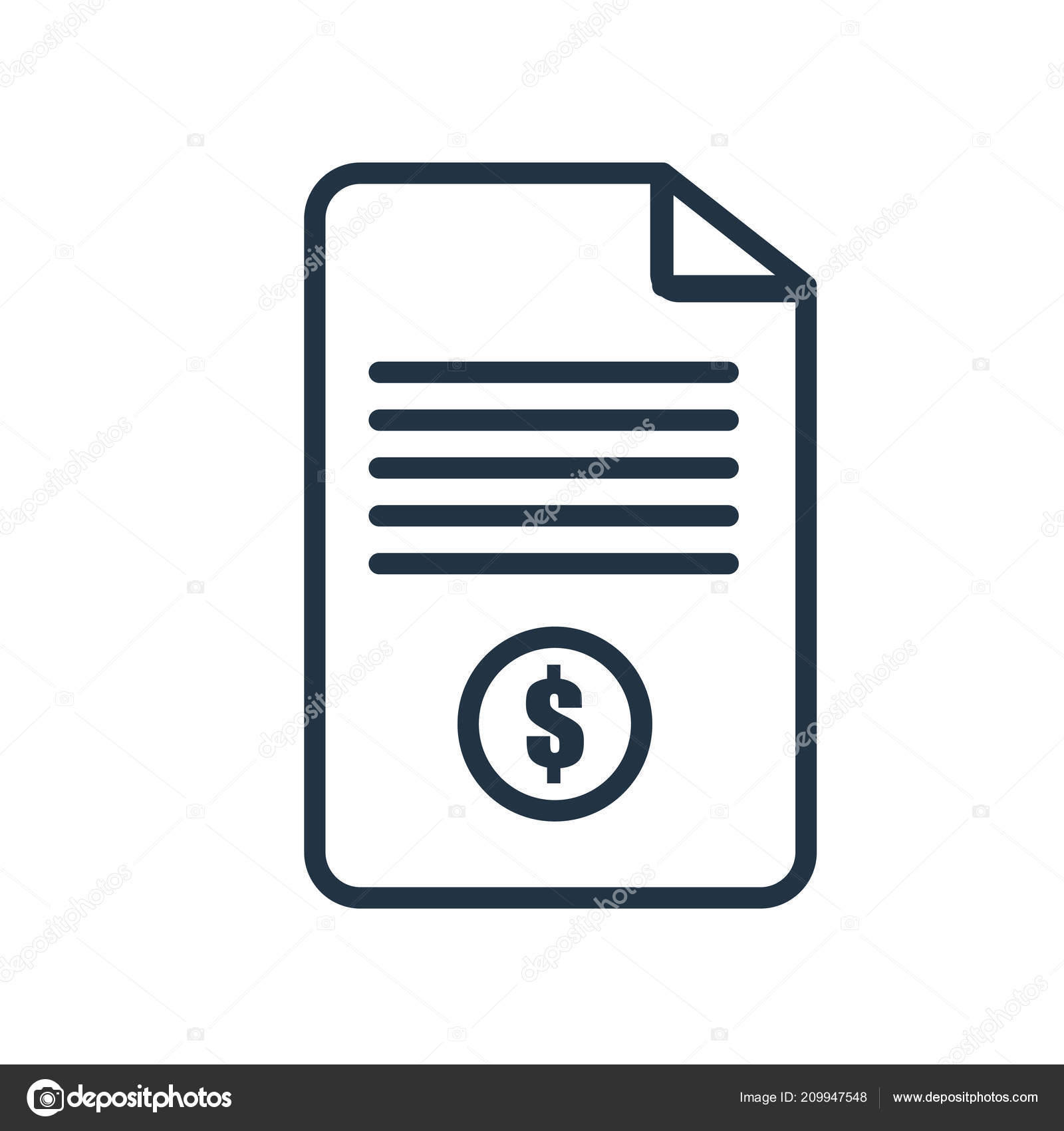 invoice icon vector isolated white background invoice transparent
