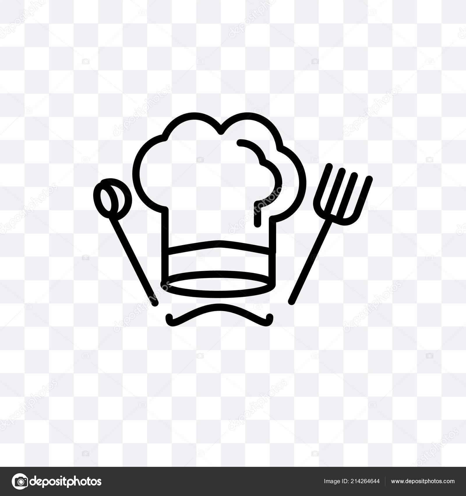 Icona del cuoco unico cappello vettoriale isolato su sfondo trasparente 229a70453693