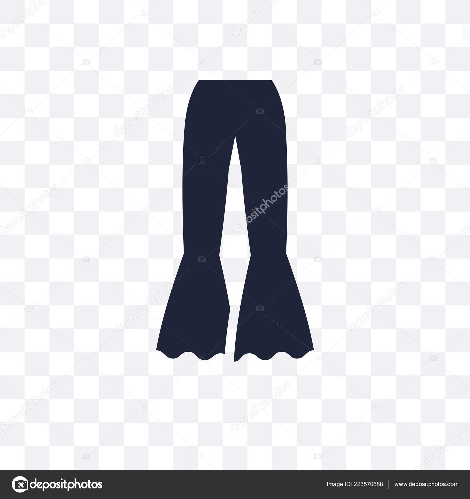 Icona Trasparente Pantaloni Disegno Simbolo Pantaloni Dalla
