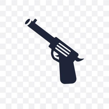 Revolver transparent icon. Revolver symbol design from Desert collection. Simple element vector illustration on transparent background.