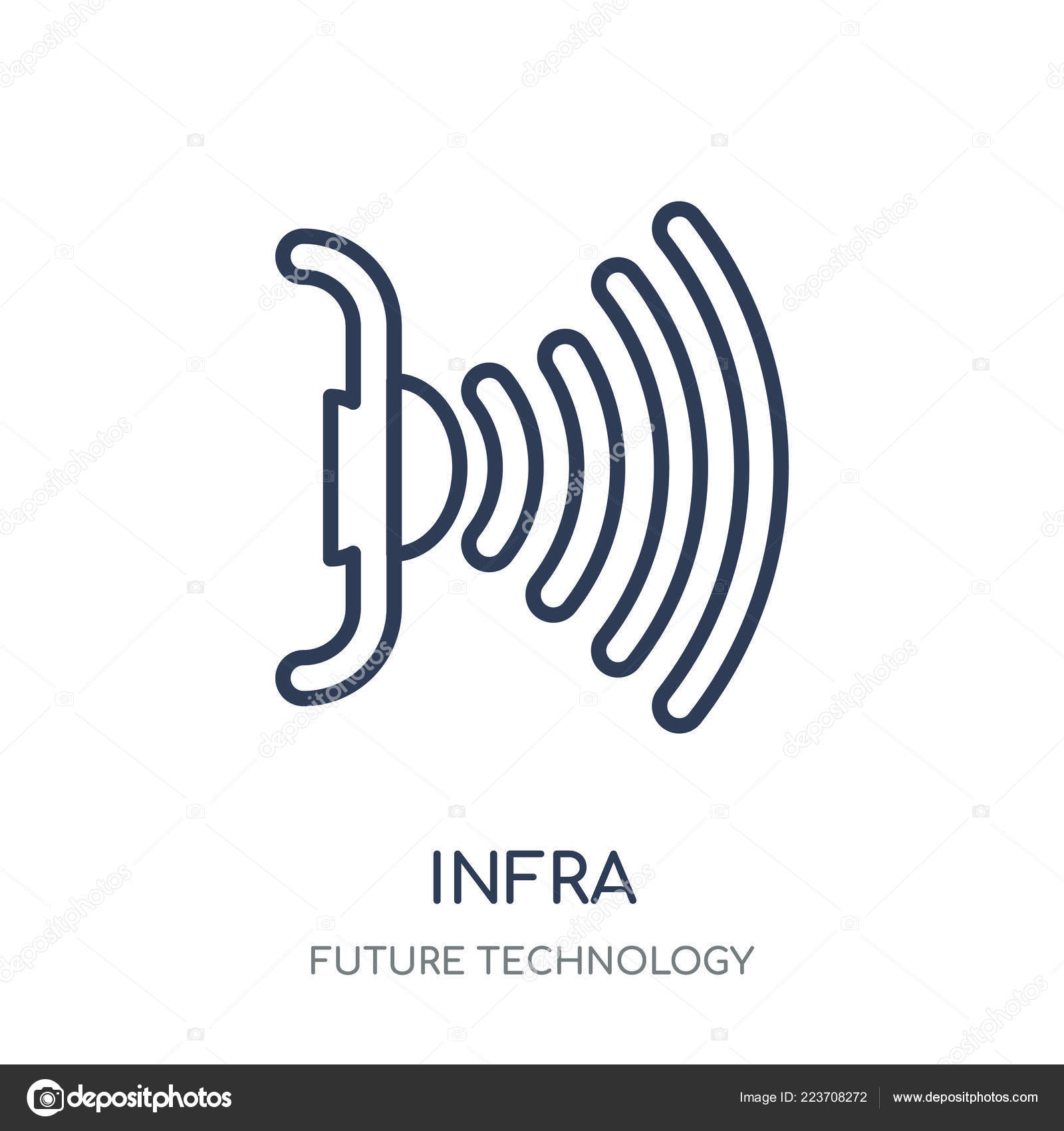 Infrared Icon Infrared Linear Symbol Design Future Technology