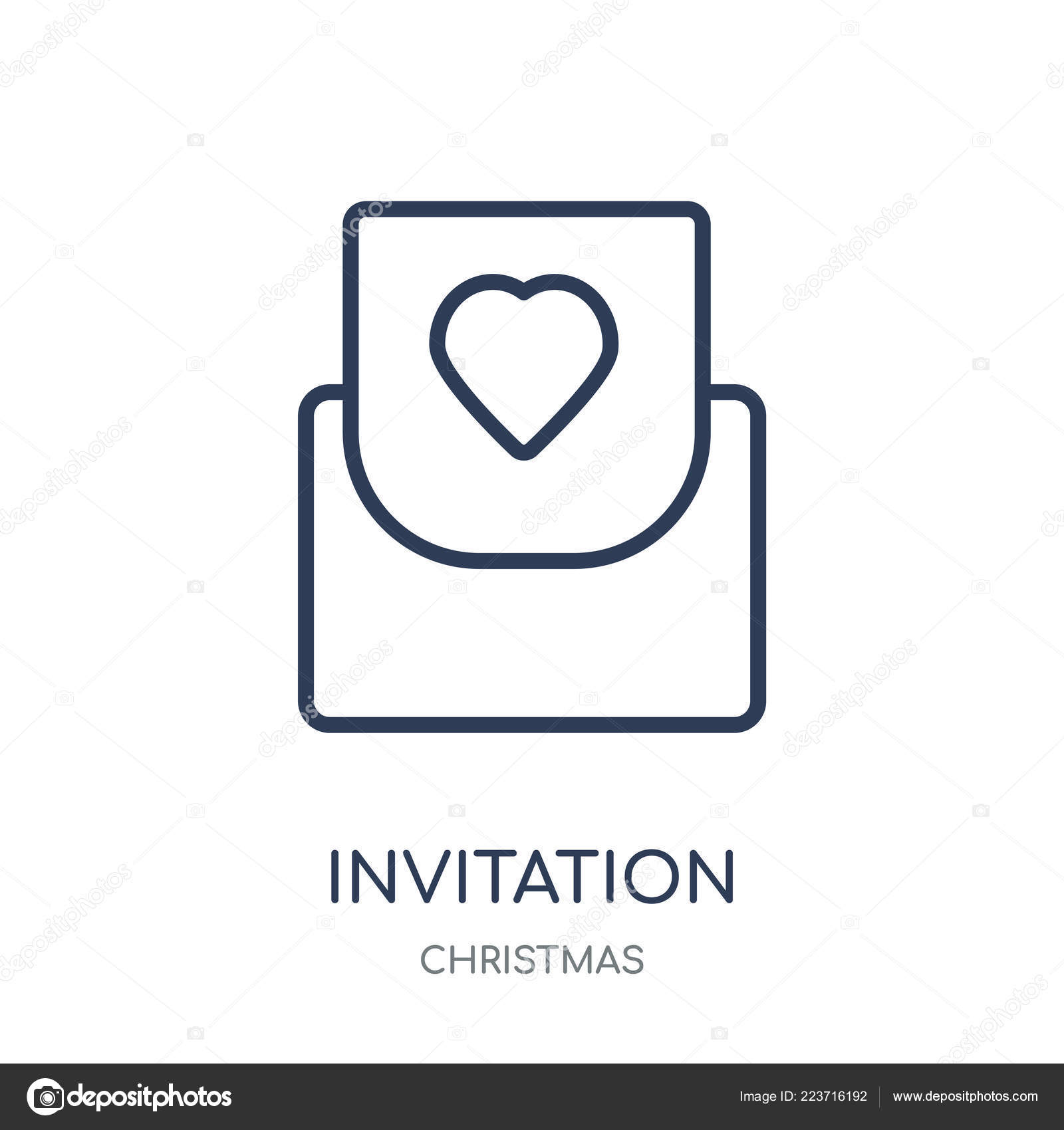 Invitation Icon Invitation Linear Symbol Design Christmas Collection
