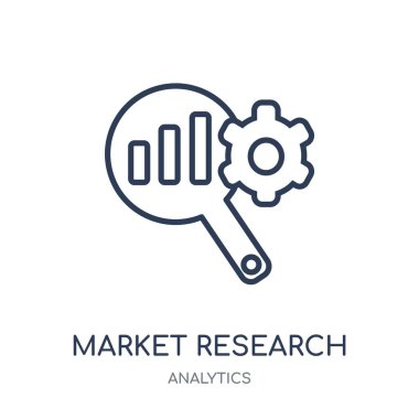 market Research icon. market Research linear symbol design from Analytics collection. Simple outline element vector illustration on white background.