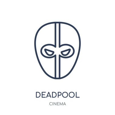 deadpool icon. deadpool linear symbol design from Cinema collection. Simple outline element vector illustration on white background.