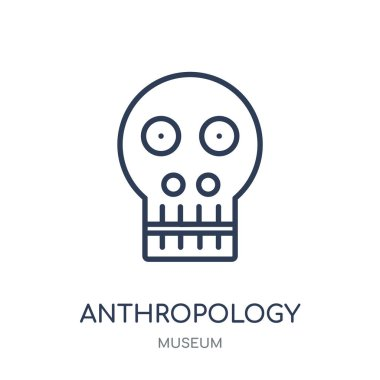 Anthropology icon. Anthropology linear symbol design from Museum collection. Simple outline element vector illustration on white background.