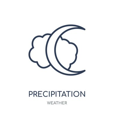 precipitation icon. precipitation linear symbol design from Weather collection. Simple outline element vector illustration on white background.