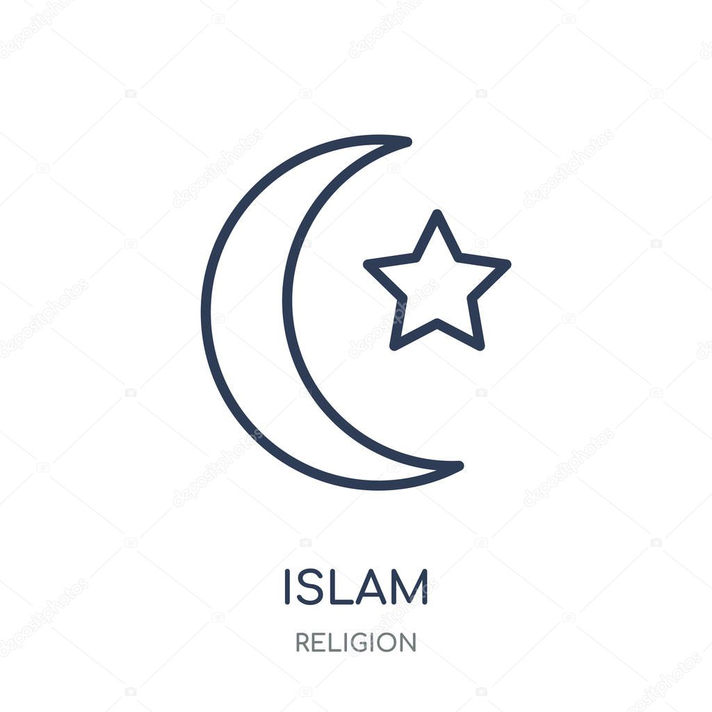 islam icon islam linear symbol design from religion collection simple outline element vector illustration on white background premium vector in adobe illustrator ai ai format encapsulated postscript eps eps format wdrfree
