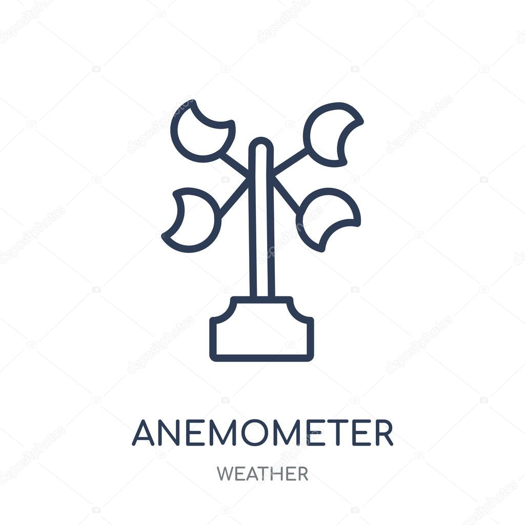 Anemometer icon. Anemometer linear symbol design from Weather collection. Simple outline element vector illustration on white background.