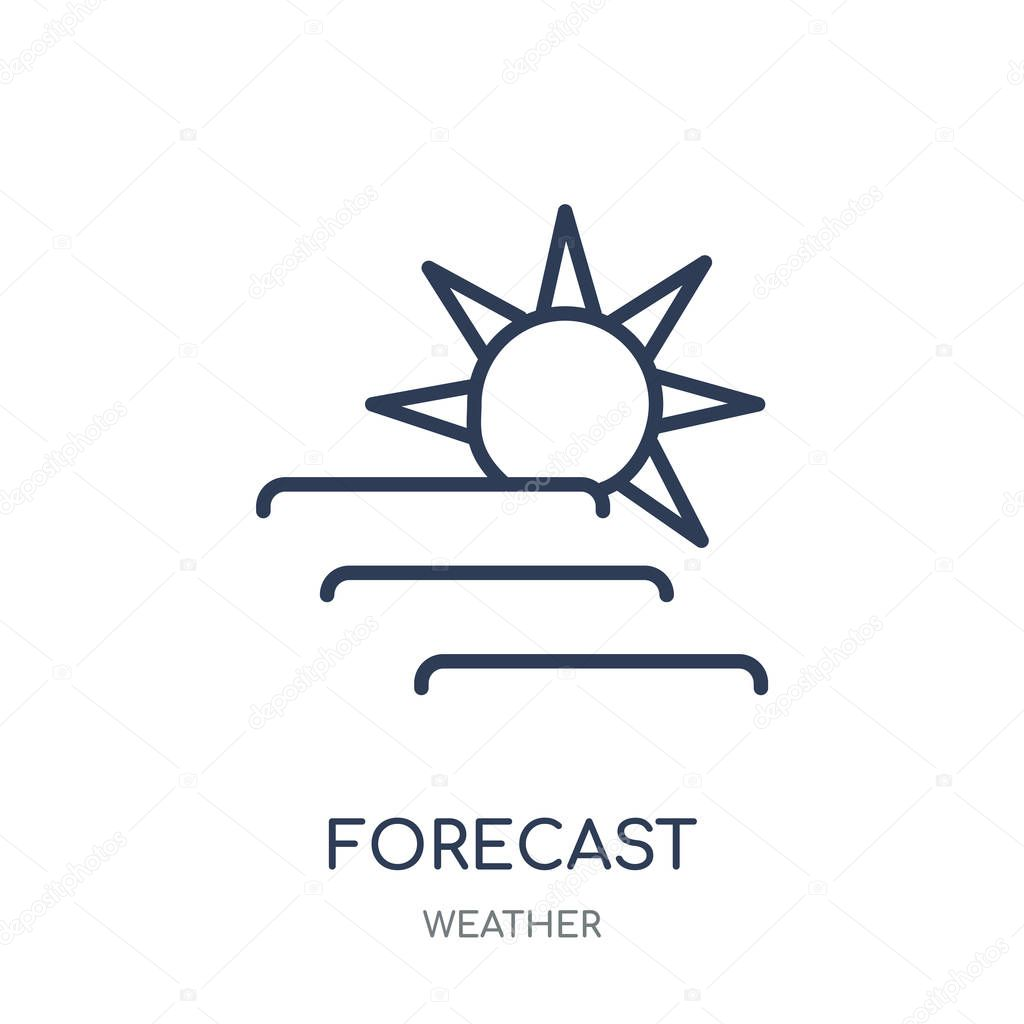 Forecast icon. Forecast linear symbol design from Weather collection. Simple outline element vector illustration on white background.