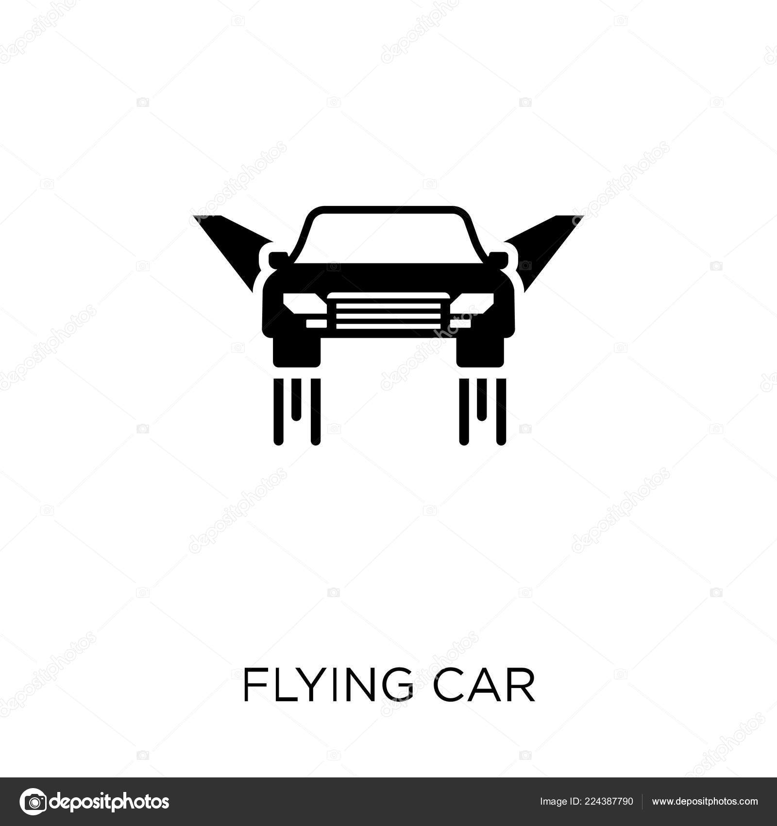 Flying Car Icon Flying Car Symbol Design Future Technology Collection Stock Vector C Coolvectorstock 224387790