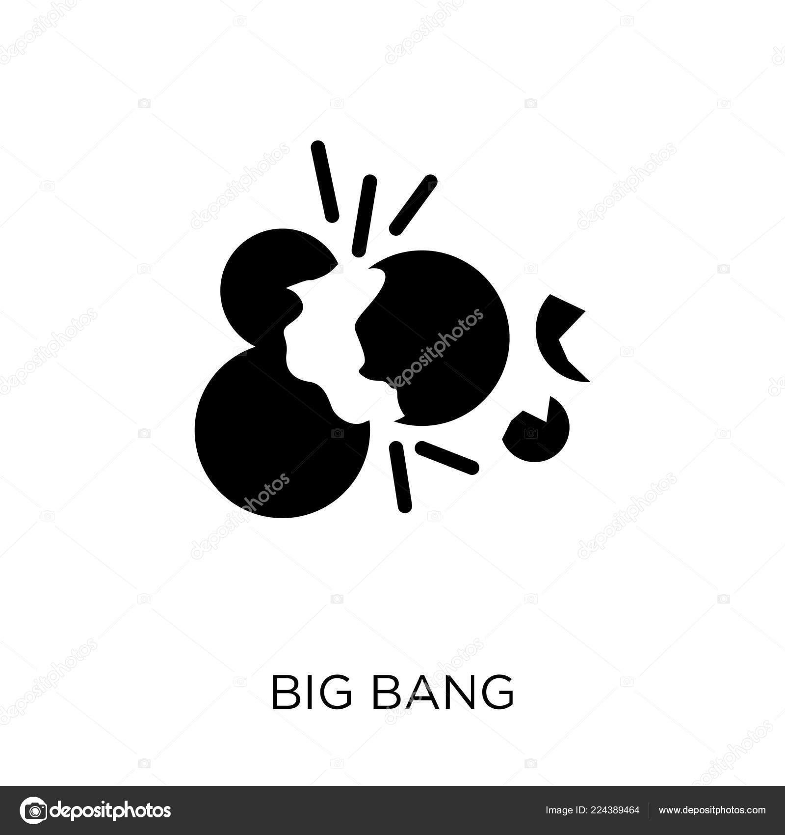 Urknall Symbol Big Bang Symbol Design Aus Astronomie Sammlung