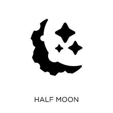 Half moon icon. Half moon symbol design from Astronomy collection.
