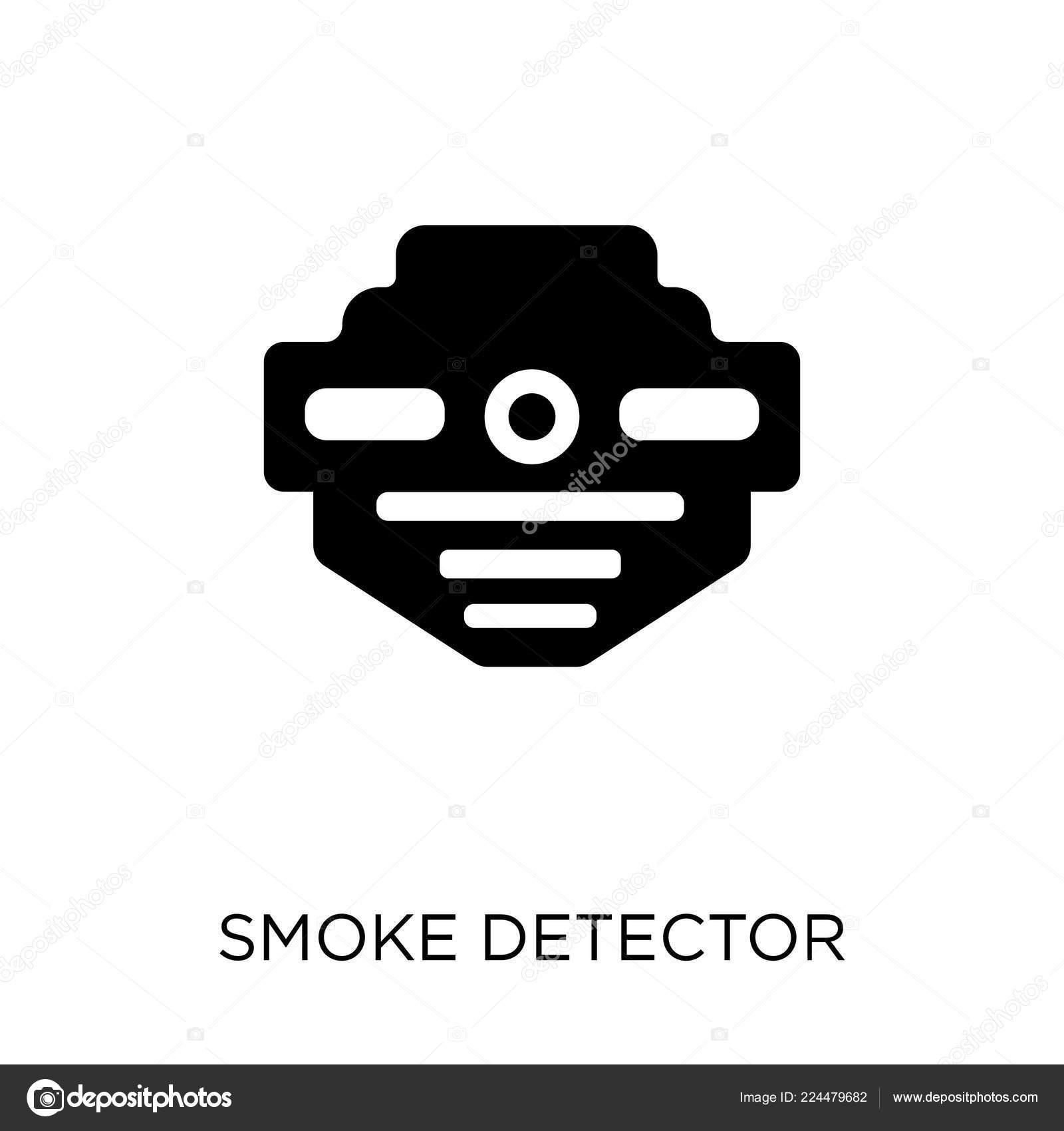 Smoke Detector Icon Smoke Detector Symbol Design Electronic
