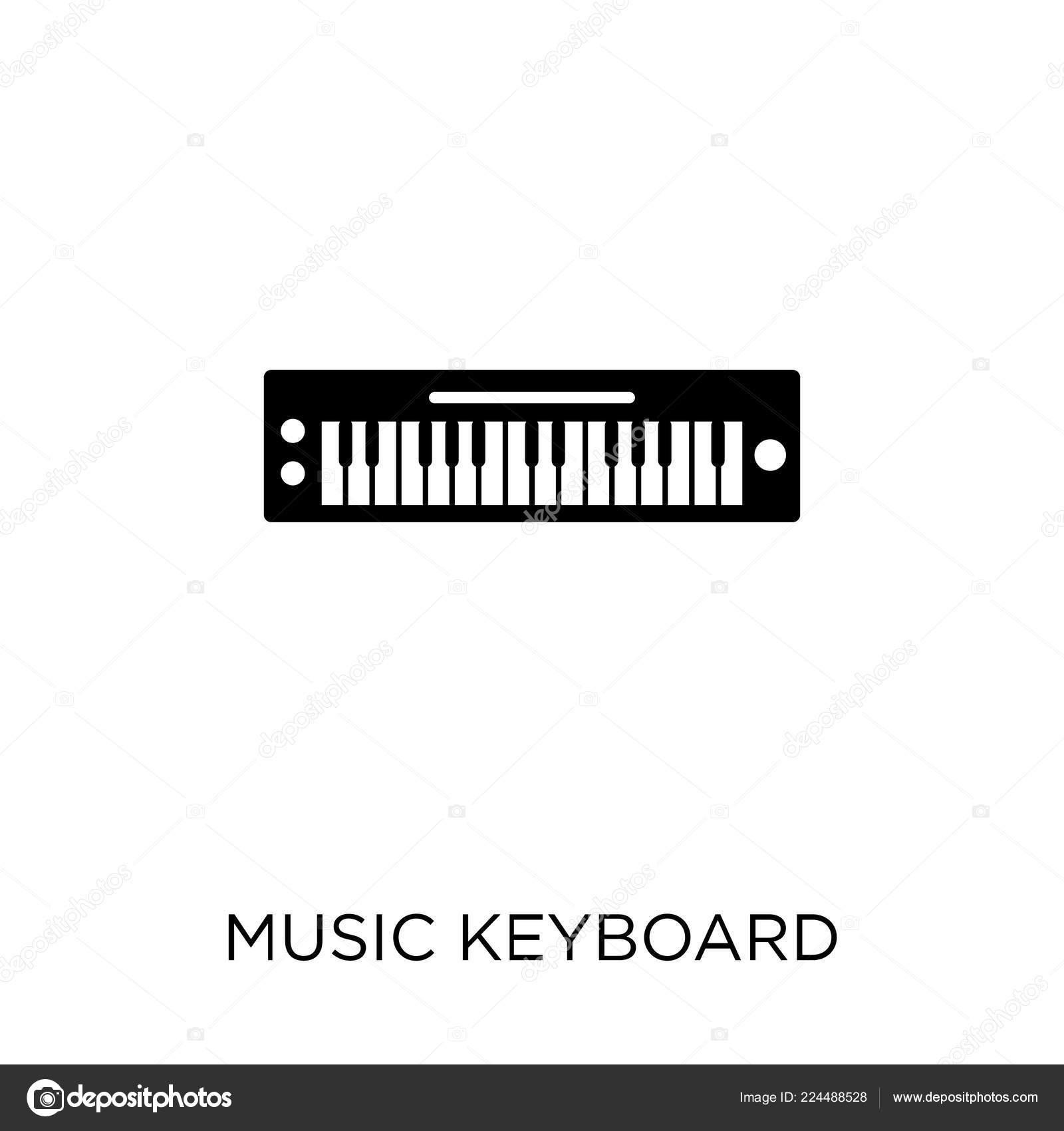 Icono Teclado Música Música Teclado Diseño Símbolo Colección Música