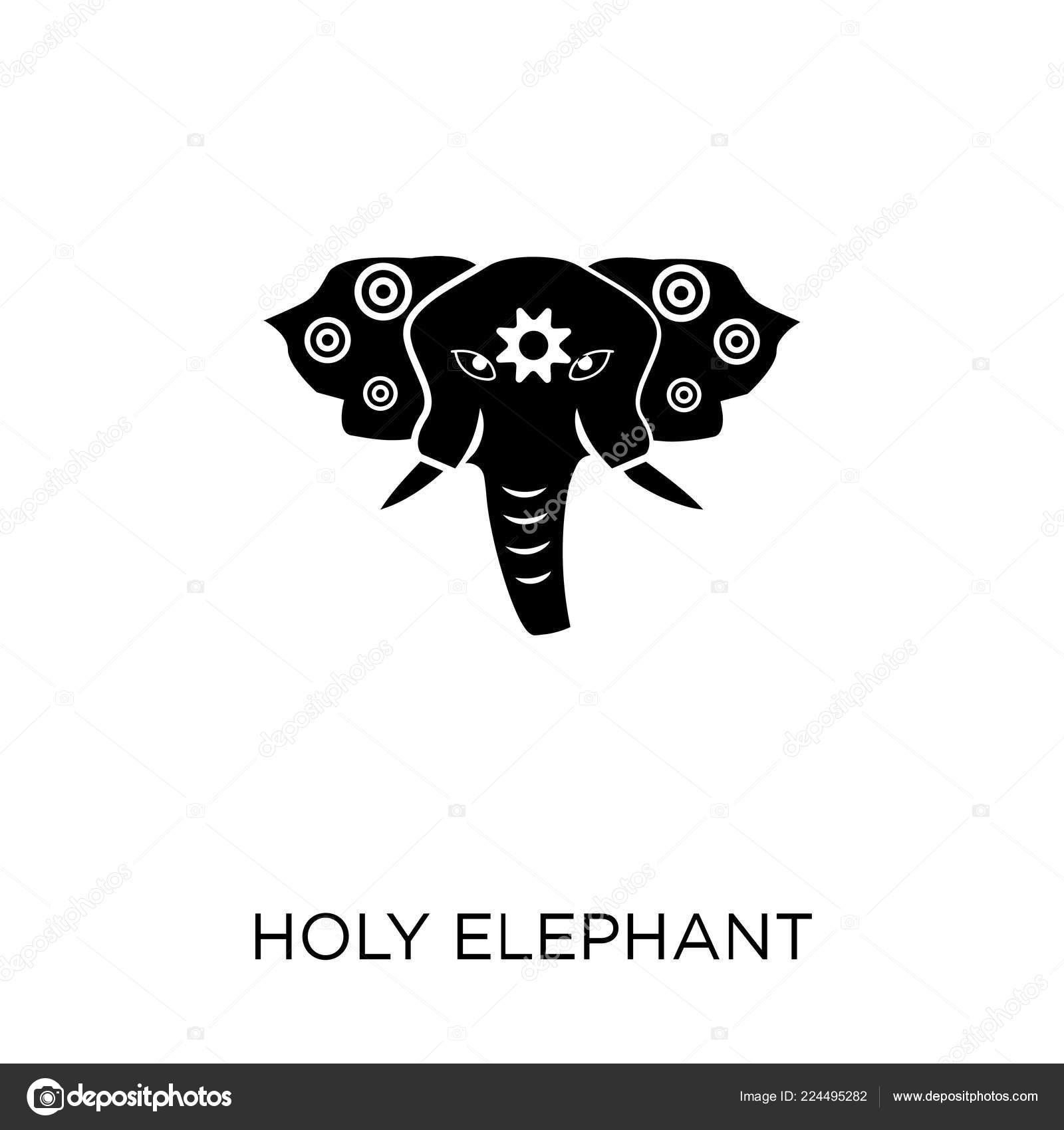 Holy Elephant Icon Holy Elephant Symbol Design Religion Collection