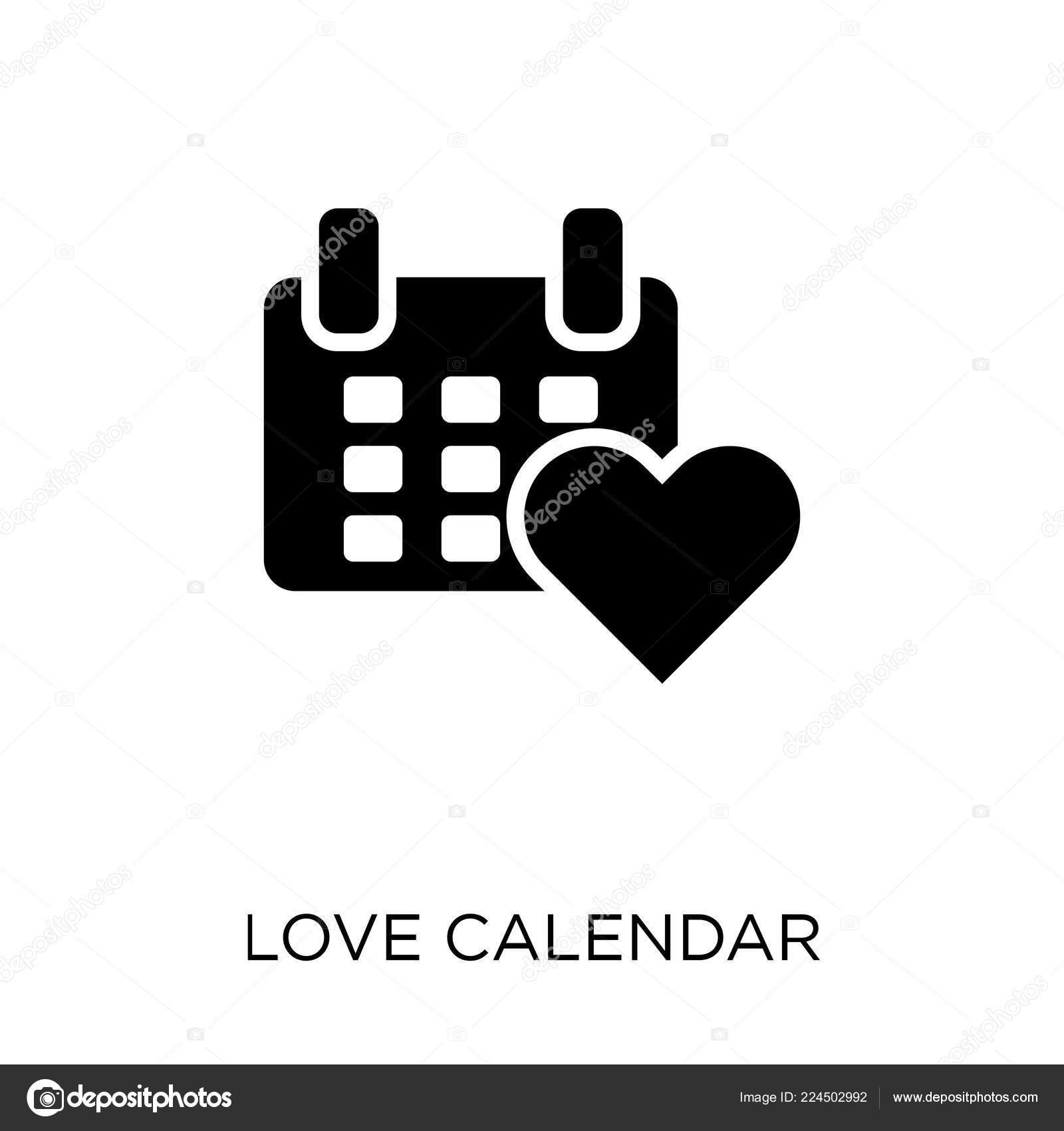 Simbolo De Calendario.Icona Del Calendario Amore Disegno Simbolo Calendario