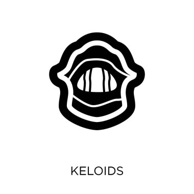 Keloids icon. Keloids symbol design from Diseases collection. Simple element vector illustration on white background.