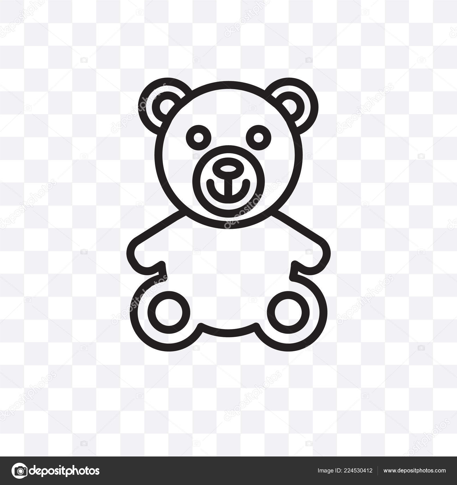 teddy bear vector linear icon isolated transparent background teddy bear stock vector c coolvectorstock 224530412 https depositphotos com 224530412 stock illustration teddy bear vector linear icon html
