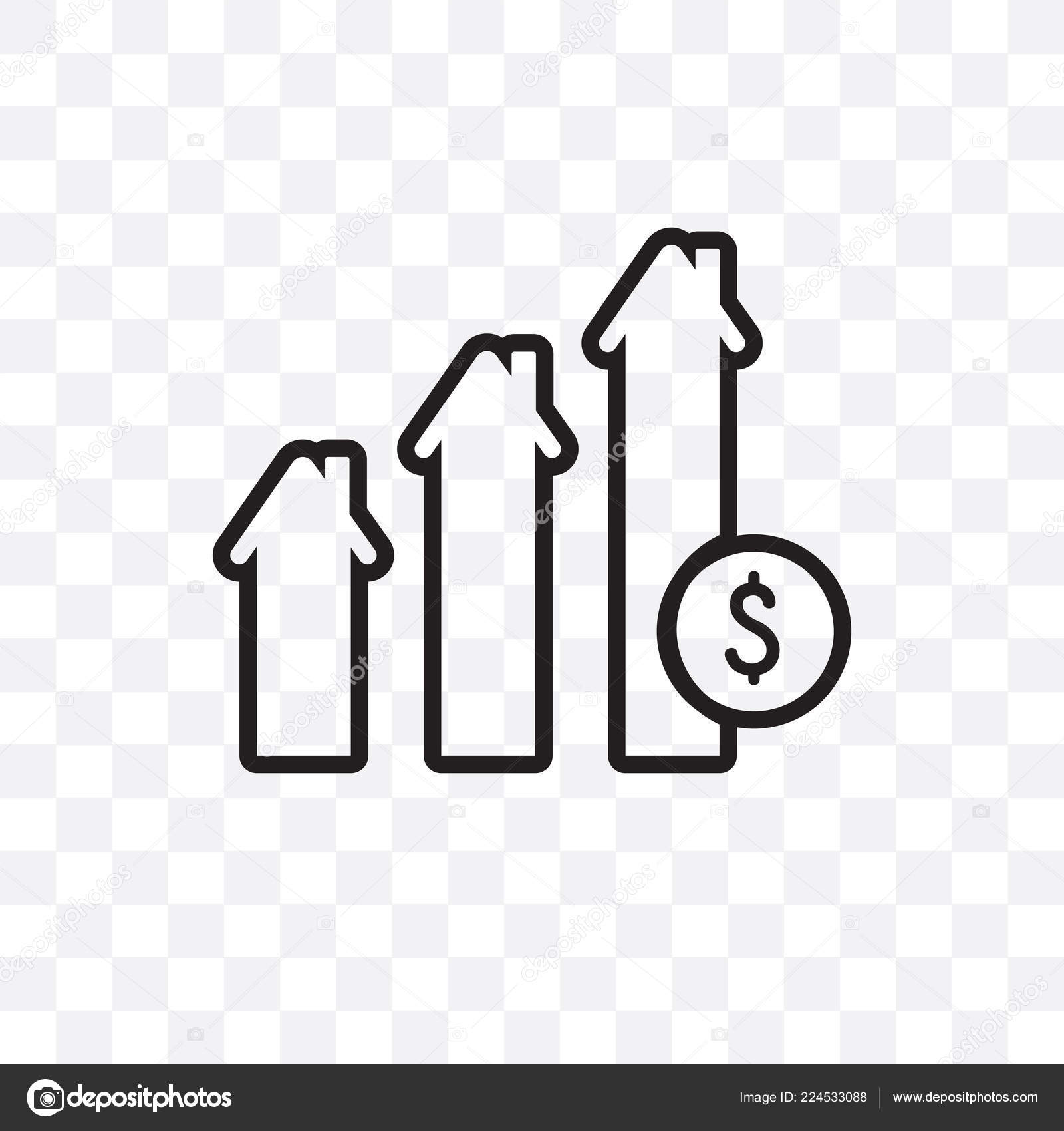 Mortgage Statistics Vector Linear Icon Isolated Transparent
