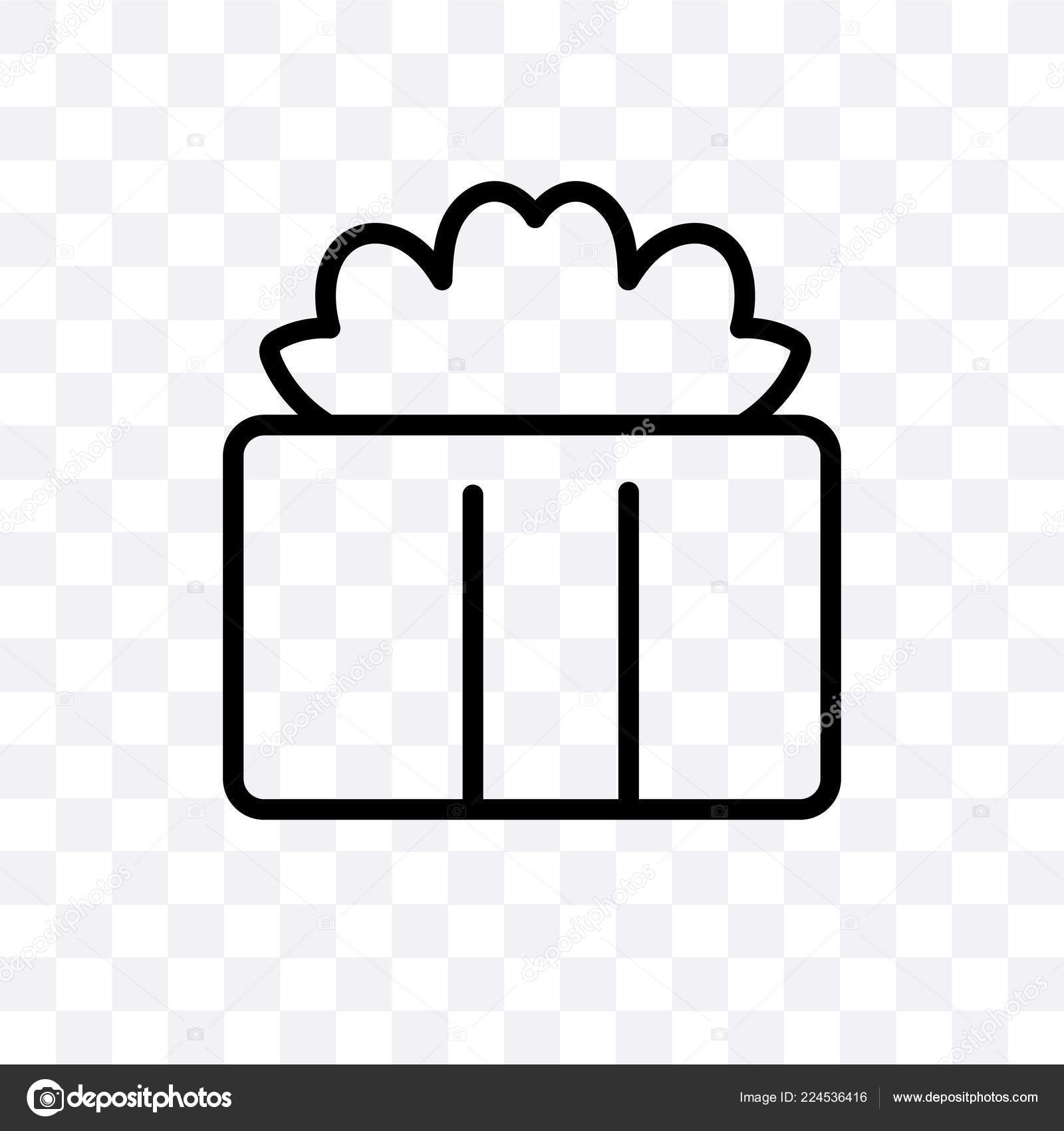 Gift Box Vector Linear Icon Isolated Transparent Background Gift Box Stock Vector C Coolvectorstock 224536416