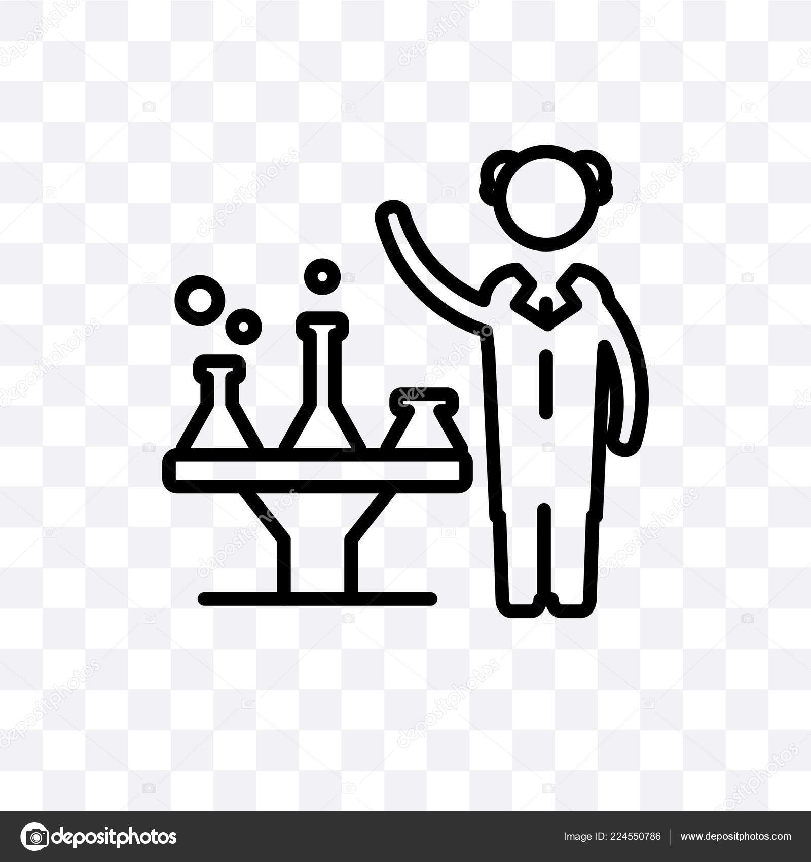 scientist vector linear icon isolated transparent background scientist transparency concept stock vector c coolvectorstock 224550786 https depositphotos com 224550786 stock illustration scientist vector linear icon isolated html