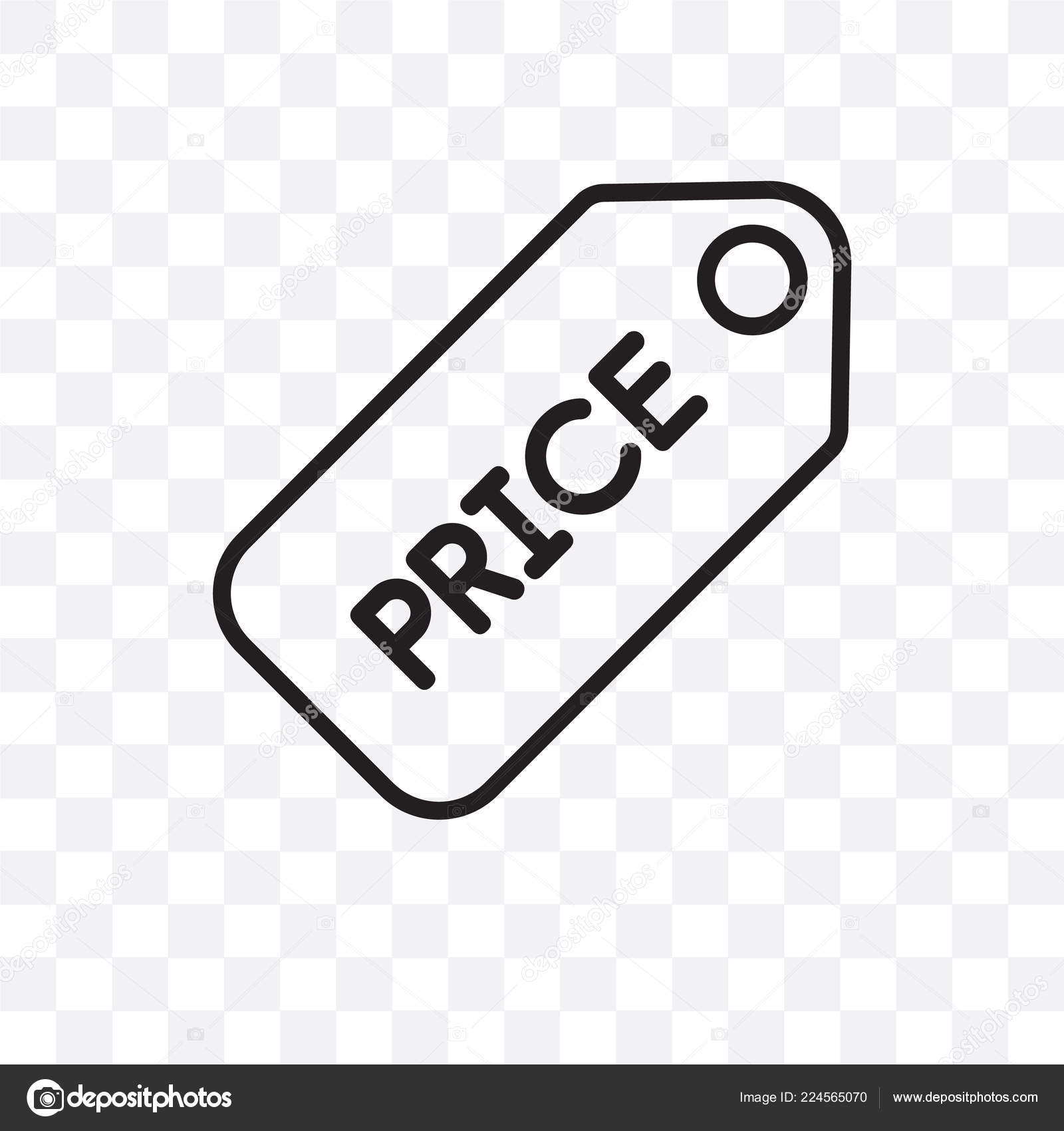 Price Tag Vector Linear Icon Isolated Transparent Background Price Tag Stock Vector C Coolvectorstock 224565070