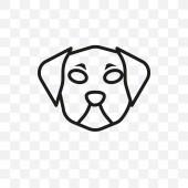 Fotografie Pumi Hund Vektor linear Symbol auf transparenten Hintergrund isoliert, Pumi Hund Transparenz Konzept eignet sich für Web und mobile Geräte