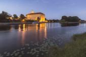 Hrad Poděbrady nedaleko řeky Labe ve středních Čechách, Česká republika