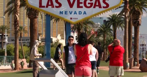 Las Vegas Neon Retro Willkommensschild touristisches Wahrzeichen