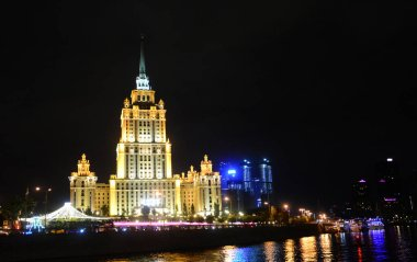 The building of evening Moscow