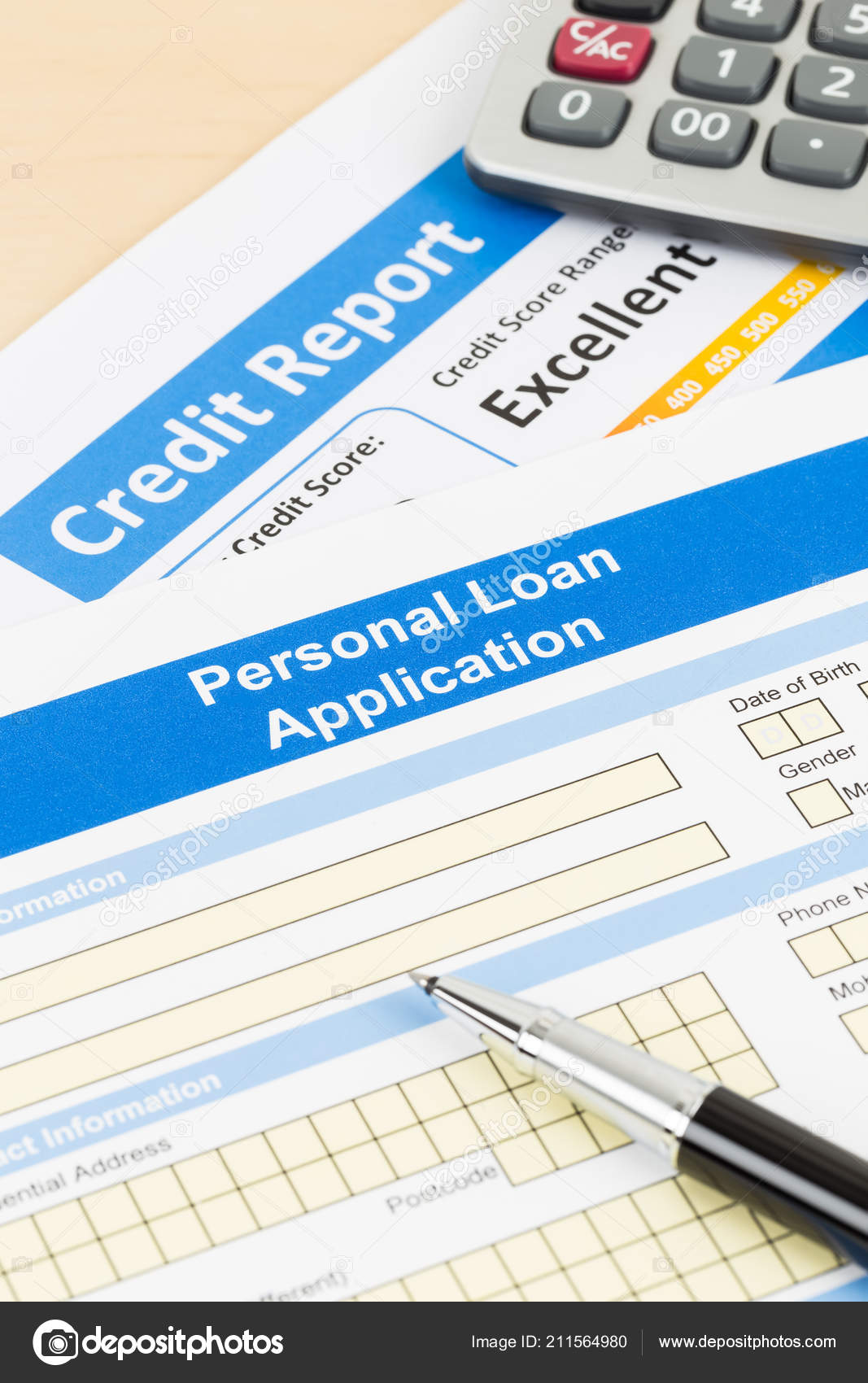Personal Loan Credit Score 550 >> Personal Loan Application Form Excellent Credit Score