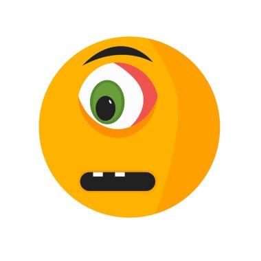 """Картина, постер, плакат, фотообои """"Грустной улыбкой Иконка Векторный изолированные на белом фоне для вашего web и мобильных приложений дизайн, грустной улыбкой логотип концепция"""", артикул 209230748"""
