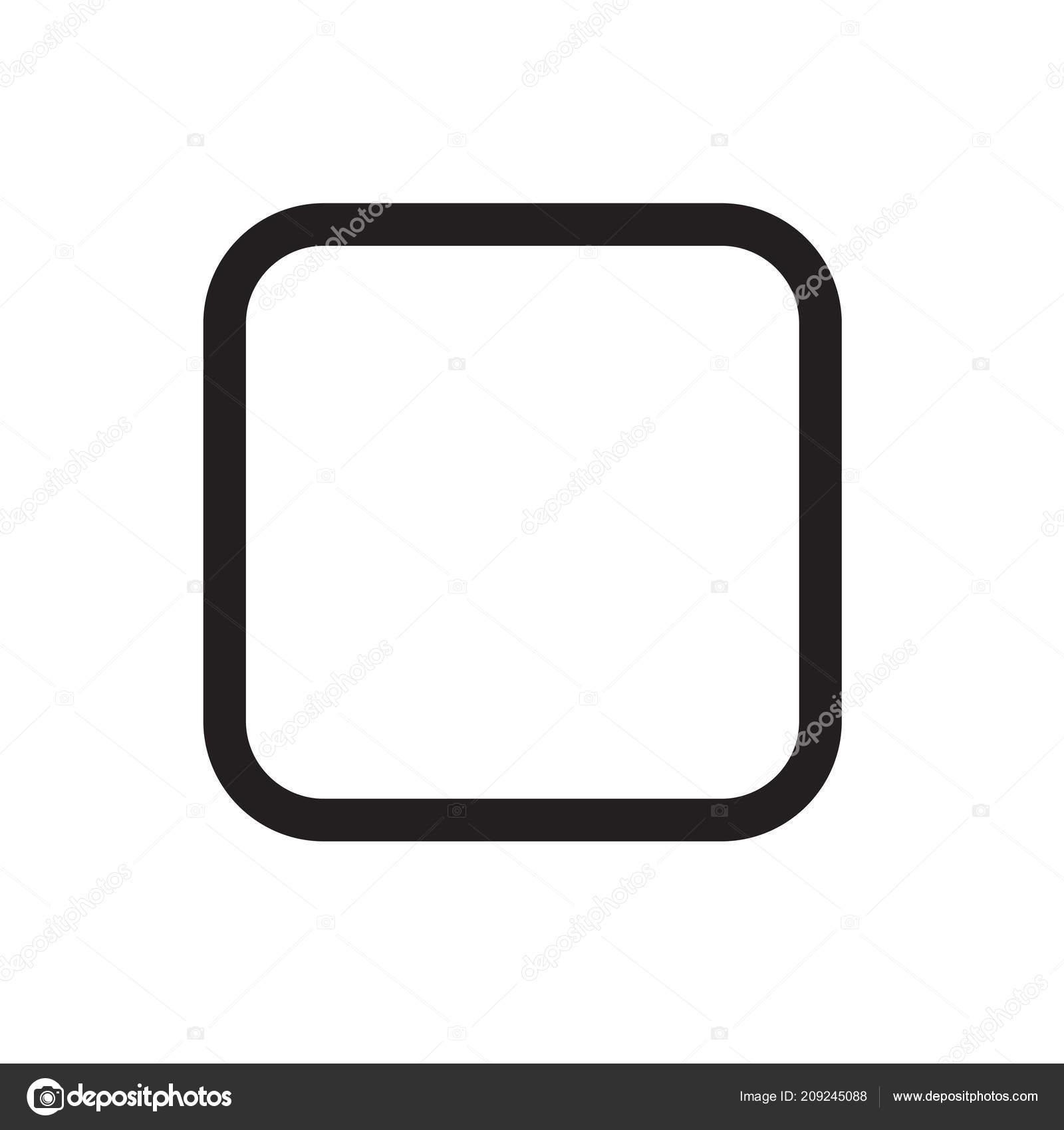 Base Quadrata Dell Icona Vettore Isolato Sfondo Bianco Vostro Web