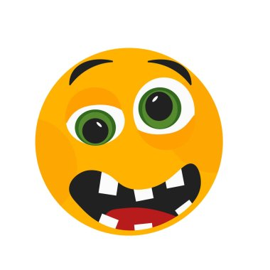 """Картина, постер, плакат, фотообои """"Грустной улыбкой Иконка Векторный изолированные на белом фоне для вашего web и мобильных приложений дизайн, грустной улыбкой логотип концепция"""", артикул 209241928"""
