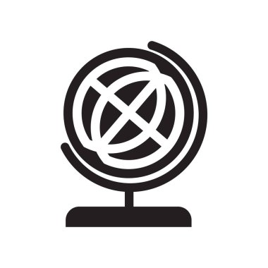 School globe icon vector isolated on white background for your web and mobile app design, School globe logo concept
