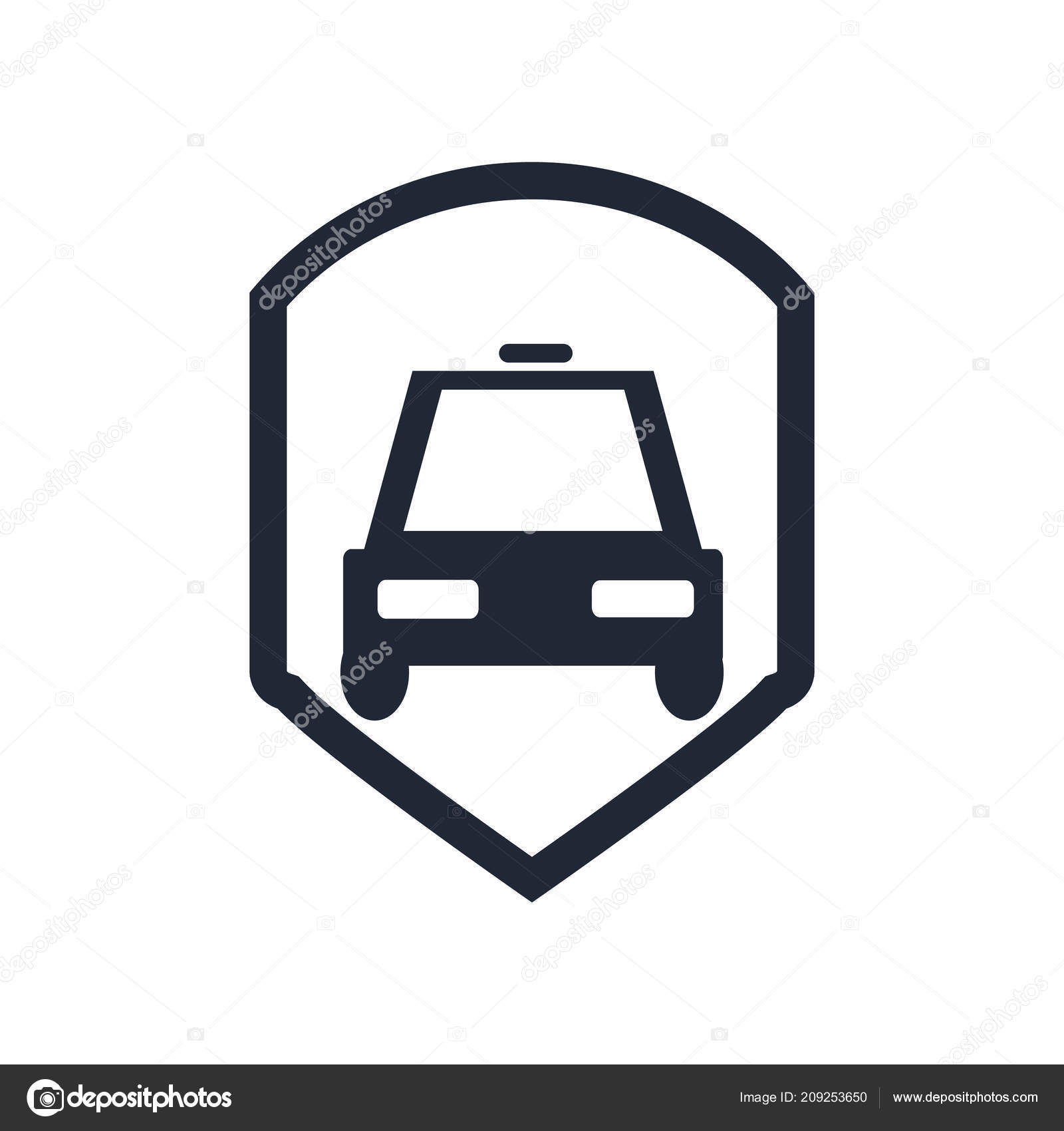 Car Insurance Icon Vector Isolated White Background Your Web Mobile