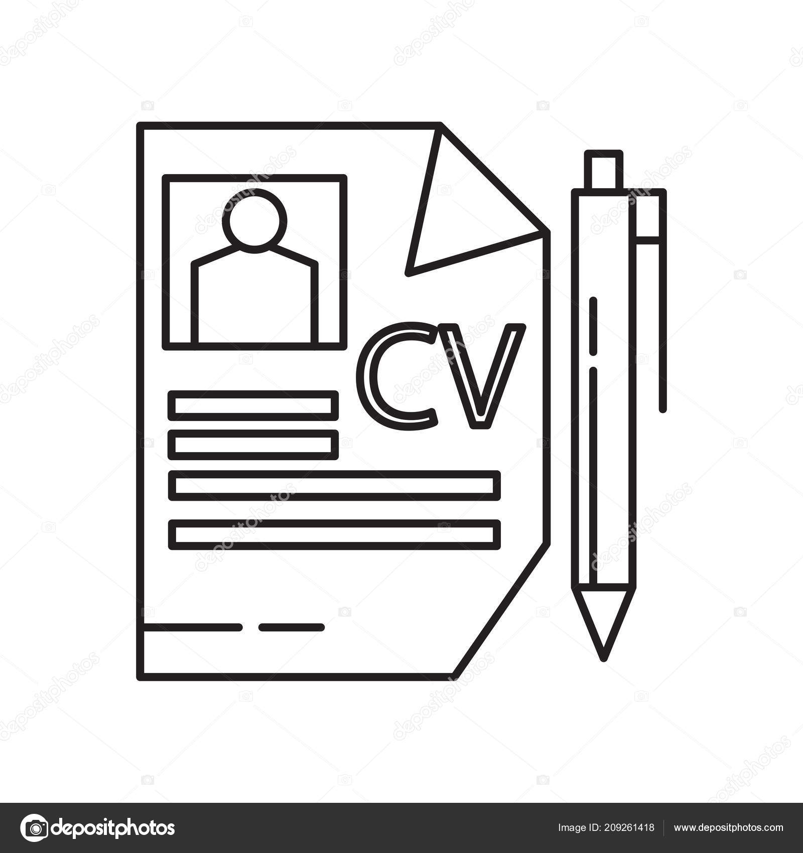 Curriculum Vitae Icon Vector Isolated White Background Your Web