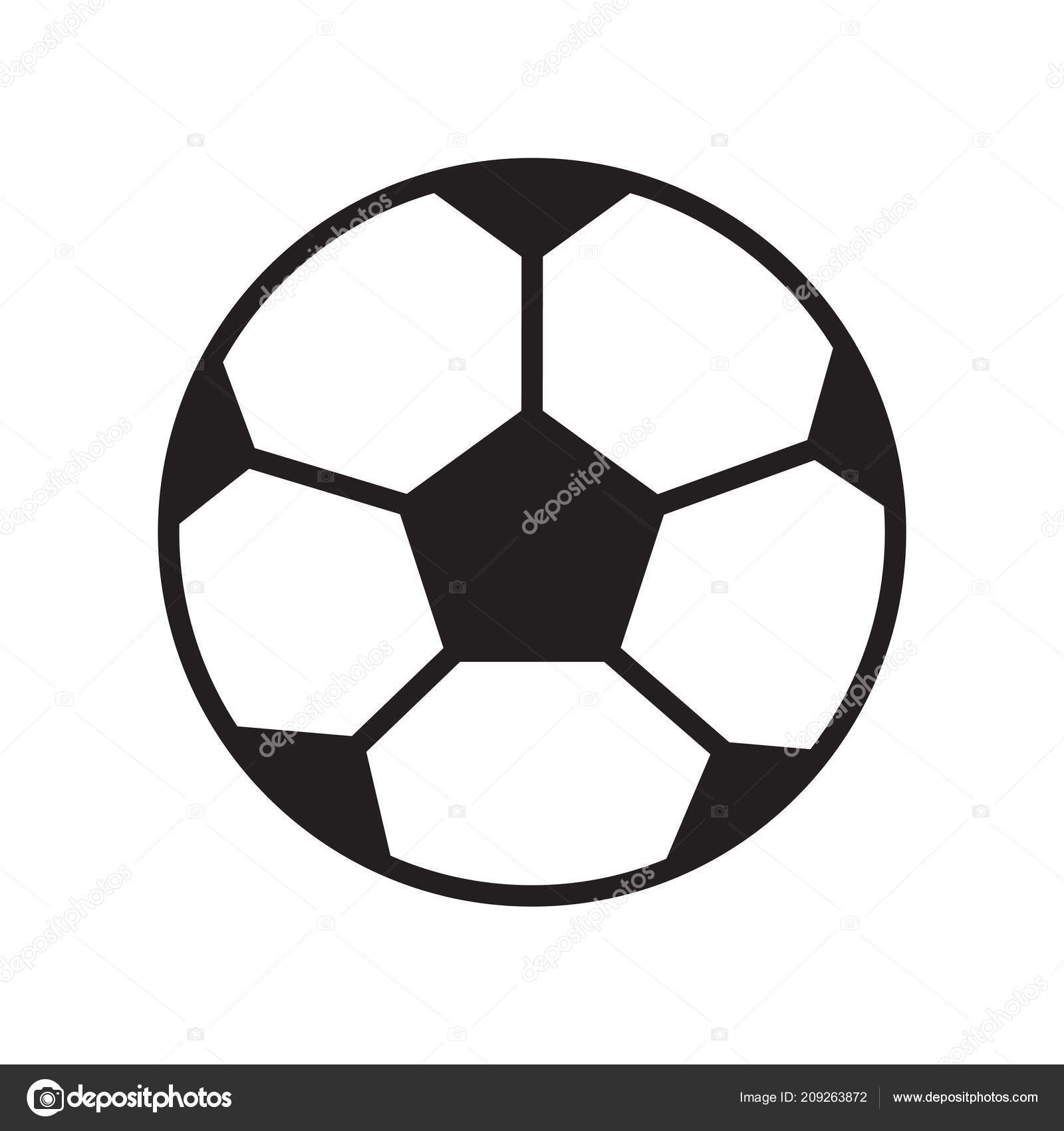 Football Ball Icon Vector Isolated White Background Your Web Mobile