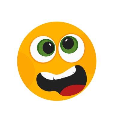 """Картина, постер, плакат, фотообои """"Грустной улыбкой Иконка Векторный изолированные на белом фоне для вашего web и мобильных приложений дизайн, грустной улыбкой логотип концепция"""", артикул 209264306"""