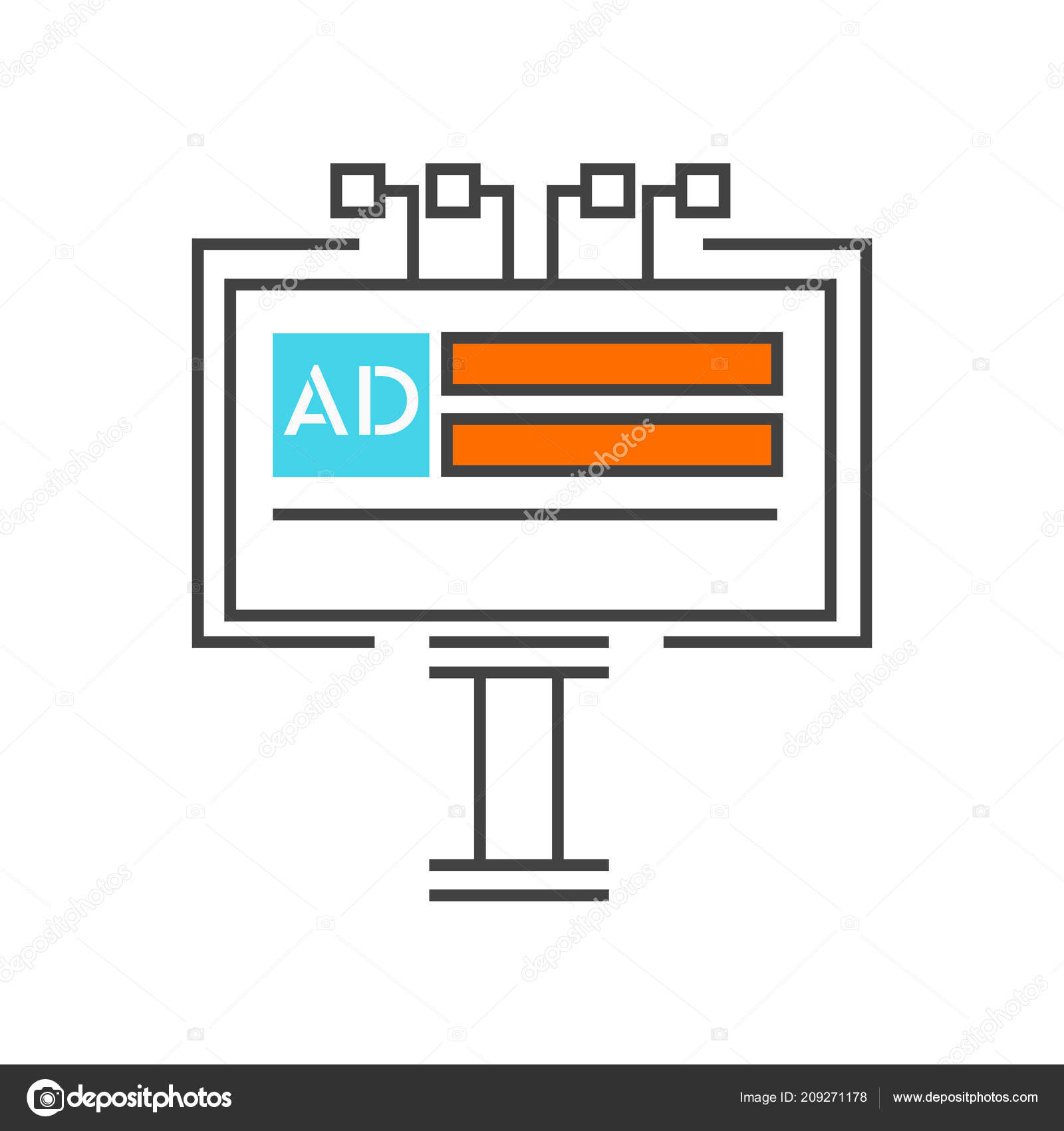 Billboard Icon Vector Isolated White Background Your Web