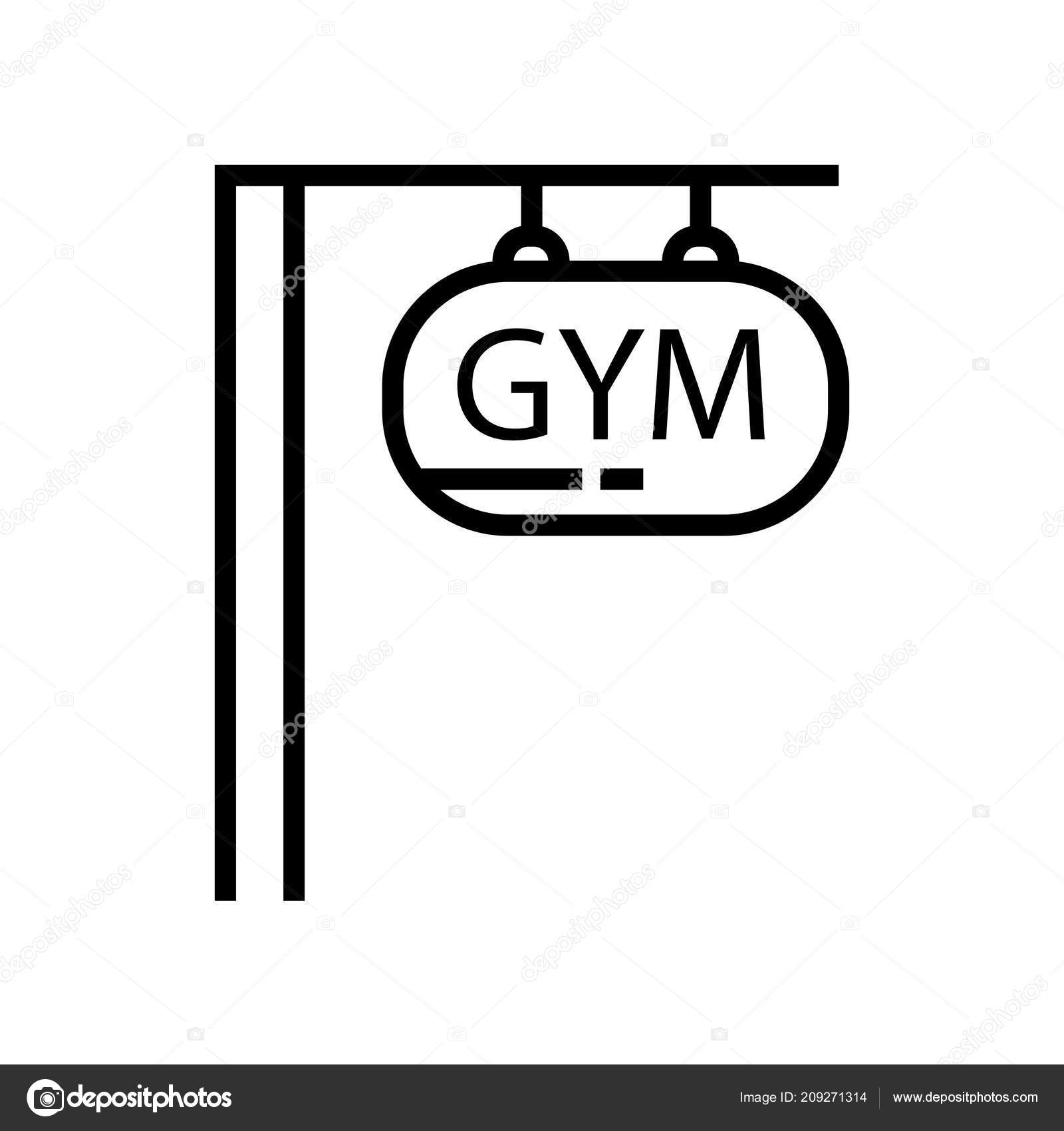 Gym Icon Vector Isolated White Background Your Web Mobile