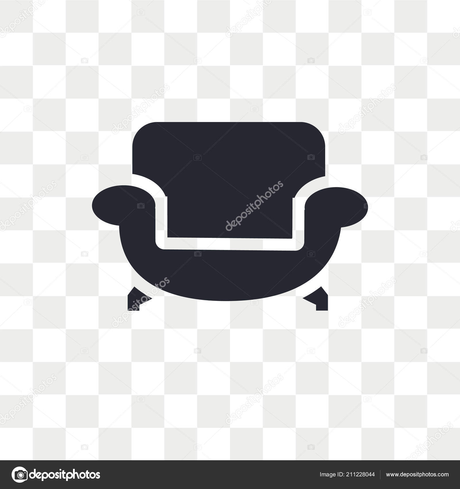 Sofa Vector Icon Isolated Transparent Background Sofa Logo Concept