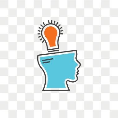 Idea vector icon isolated on transparent background, Idea logo concept