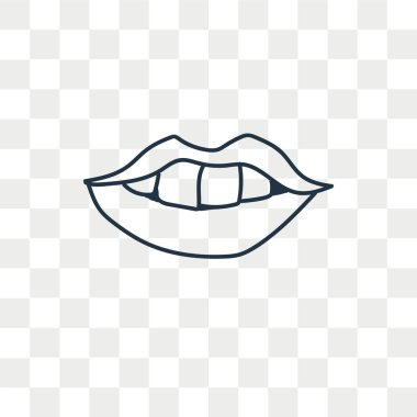 Mouth vector icon isolated on transparent background, Mouth logo concept