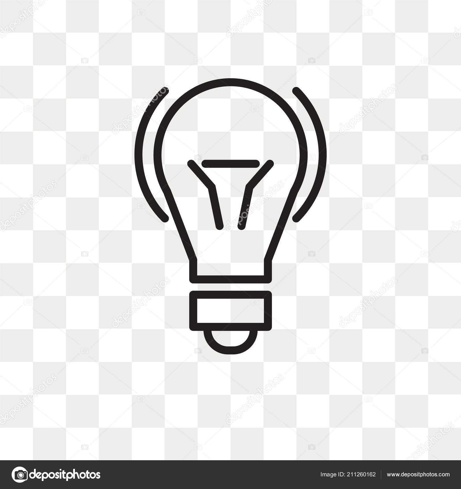 Background Png Light Bulb Light Bulb Vector Icon Isolated