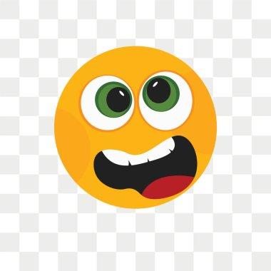 """Картина, постер, плакат, фотообои """"Грустной улыбкой Векторный icon, изолированные на прозрачном фоне, грустной улыбкой логотип концепцию"""", артикул 211267144"""